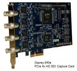 Osprey-840e Quad channel High-Definition SDI Audio/Video Capture Card