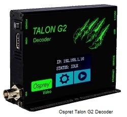 Osprey Talon G2 Touchscreen Decoder with HDMI and SDI video outputs